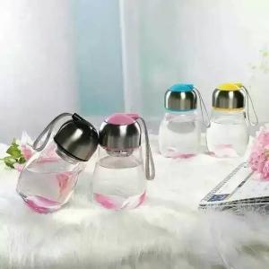 Buy cheap ガラス瓶、プラスチックふた、300ml 400 ml 500ml容量の顧客のロゴが付いているガラス瓶は受け入れます product
