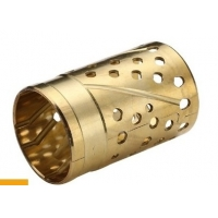 Buy cheap High Load Capacity CuZn32 Bronze Sleeve Bushings With Lubricating product