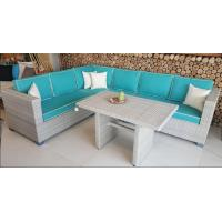 China 2017 Rattan Corner Sofa  Set L Shape Cushion Covered In Aluminium Frame Nice Price For Full Container wholesale