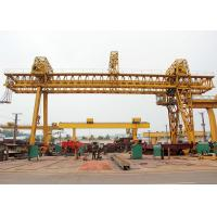 Buy cheap Double Beam Truss Gantry Crane , Industrial A Frame Gantry Crane Rubber Tired product