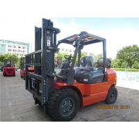 Buy cheap EPA Approved 4 Tonne Gasoline Forklift Truck Material Handling Machines Dual Front Tires product