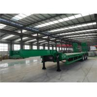 Buy cheap 4mm Antiskid Plate Heavy Haul Trailer For Transport Cranes / Bulldozers from wholesalers
