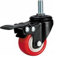 """Buy cheap light duty 2"""" threaded stem PU caster with brake, 2.5 inch, 3 inch PU castor with brake product"""