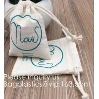 Buy cheap Drawstring Bags Reusable Muslin Cloth Gift Candy Favor Bag Jewelry Pouches for Wedding DIY Craft Soaps Herbs Tea Spice B product
