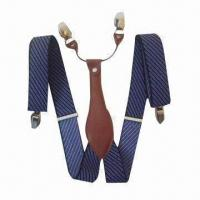 China Fashionable Suspender, Available in Various Colors and Designs, Made of Elastic Webbing on sale