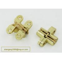 China 180 Degree 44 Mm Zinc Alloy Firm Furniture Wooden Box Hidden Hinge Easily Installed wholesale