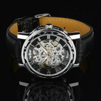 Buy cheap Elegant Gold Hand Wind Mechanical Watch For Mens , Silver Case product