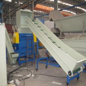 Large Capacity Plastic Extrusion Equipment PP PE Washing Crushing Drying Line