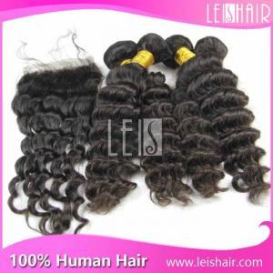 Buy cheap 5A良質の熱い販売の深く巻き毛のペルーのremy毛延長 product