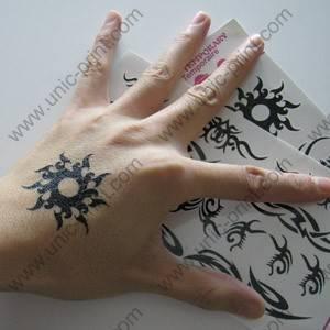 Etiqueta engomada/etiqueta temporales del tatuaje del símbolo de Sun