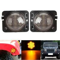 China Amber 2007-2017 Jeep Wrangler Smoked Turn Signals Clear Lens IP 68 Waterproof on sale