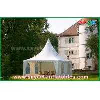 China Waterproof 10x10 Aluminum PVC Folding Tent China 10x10 Pagoda Tent on sale