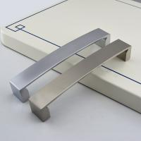 Anodized bsn aluminum handles anodized brushed for Brushed aluminum kitchen cabinets