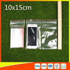 Buy cheap las 10 x 15 bolsas de plástico reconectables claras de la cremallera/la bolsa de poliéster autoadhesiva from wholesalers