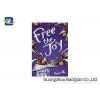 Buy cheap Snacks / Chocolate Advertising Poster Lenticular 3D , Lenticular Photo Printing Stunning Design from wholesalers