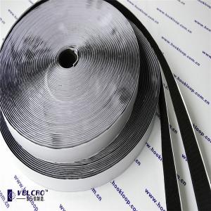 20mm Self Adhesive Hook And Loop Tape Black Velcro 2 Inch Rolls Hot Melt Glue