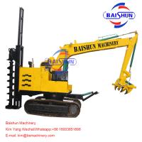 Buy cheap 5-8T Crane Auger Pole Erection Machine Drilling Rig Mounted On Tractor For from wholesalers