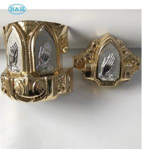 Buy cheap Coffin Fitting Set Herrajes Para Ataudes Casket Plastic Corners Gold Color product