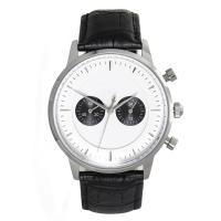 Buy cheap Waterproof Black Mens Classic Leather Strap Watches with Quartz Movement product