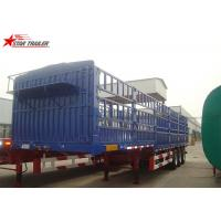 Buy cheap 60T Roof Opened Steel Dry Van Trailer , Dry Box Trailer With Tri Axles product