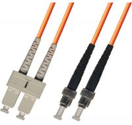 Buy cheap multimode Duplex Fiber Optic Patch Cable 3M ST-SC 62.5/125 Orange product