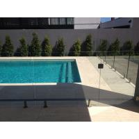 Buy cheap Swimming pool safety glass railing/fence with stainless steel spigots product