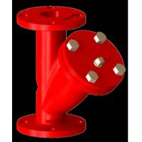Buy cheap Red Ductile Iron Y Strainer With SS304 Screen Filter And Plug , Drain Hole DN 50 product