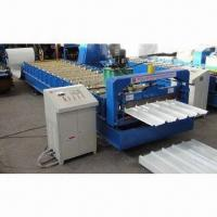 China Automatic Cold Bending Roll Forming Machine, Use to Process Colored Steel Plate and Galvanized Board on sale