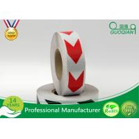 Buy cheap Dark Self Adhesive Arrow Reflective Electrical Warning Tape For Truck / Vehicles product