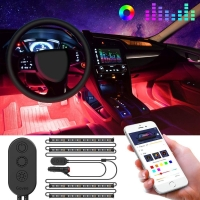 Buy cheap 4x RGB 4pcs 120cm Interior Ambient Lights Neon Remote Control product