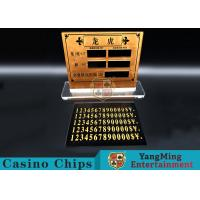 Buy cheap Casino Dragon And Tiger High-Grade Pure Copper Entertainment Bet Card Table Limit Sign product