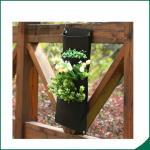Buy cheap 4つのポケット黒い色によってリサイクルされる縦の壁の庭プランター/バルコニーの植物は袋を育てます product