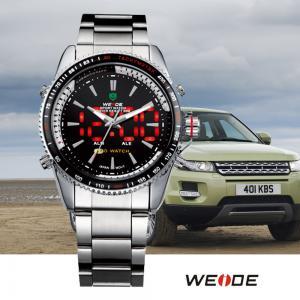 Buy cheap Multifunction Japan Quartz Dual Time Watch Alarm  , Mens Wrist Watch product