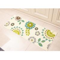Buy cheap White Dandelion flowers style Anti-slip printed floor mats for Home decoration in kitchenroom , 45×120cm product