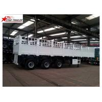 Buy cheap Bulk Cargo Drawbar Full Trailer With Rail Side Wall And Cargo Fence 26ft 2 Axles product