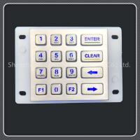 Buy cheap Ip67 Waterproof Grade Backlit Numeric Keypad For Self Service Car Washing Machine product