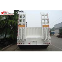Buy cheap High Point Load Low Flatbed Semi Trailer With Mechanical Suspension product