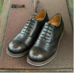 Buy cheap Chaussures noires sans lacets respirables de sports des chaussures de sport en cuir d'orteil des hommes ronds d'appartements product