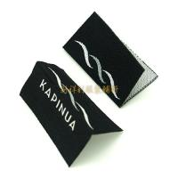 Buy cheap Centrefold Woven Clothing Labels Low Minimum With Logo For Damask Textile Products product