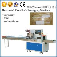 China chopsticks spoons wrapping machine / pillow automatic packaging machine on sale