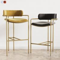 Buy cheap Lenox Velvet Counter Modern Bar Chairs West Elm Fashionable Design product