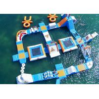 Buy cheap Safe Ocean Inflatable Water Park / Commercial Floating Water Playground from wholesalers