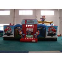 Buy cheap Customized Fire Truck Design Inflatable Fun City Fireproof inflatable fire engine 8 X 6 X 5m In Public product