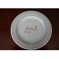 China Natural Bamboo Fibre  Blue And White Melamine Plates For Professional Star Hotel wholesale