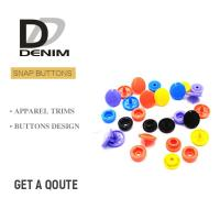 Buy cheap Plastic Snap Fastener Buttons Fashion Colorful Childhood Lead Free product