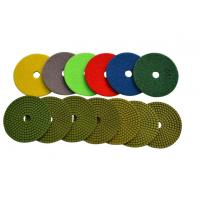 China 4 Wet Diamond Resin Polishing Pads For Marble / Synthetic Stone High Gloss Polishing on sale