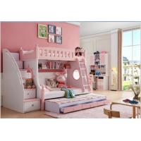 China 2018 latest design solid wood children bunkbed  girl bed on sale