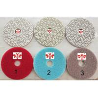 China Orbital Sander Marble 3 Step Diamond Polishing Pads  , Grinder Concrete Polishing Discs on sale
