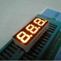 Buy cheap Multiplexing 3 Digit 7 Segment Led Display Low Voltage Small Current Drive from wholesalers