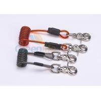 Double Colors Coil Tool Lanyard 5.0 * 50MM Safety With Zinc Alloy Swivel Snap Hooks